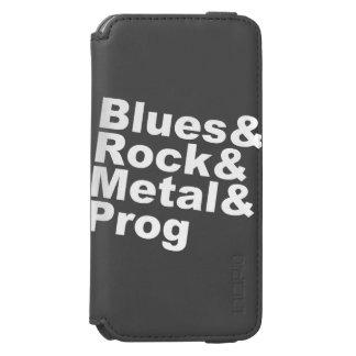 Blues&Rock&Metal&Prog (wht) Incipio Watson™ iPhone 6 Wallet Case
