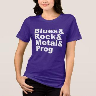 Blues&Rock&Metal&Prog (wht) T-Shirt