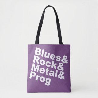 Blues&Rock&Metal&Prog (wht) Tote Bag