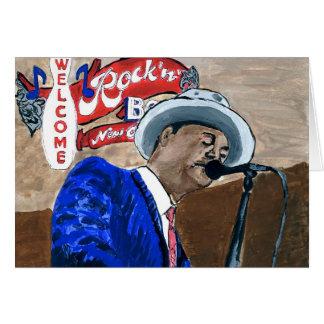 Blues Singer Card