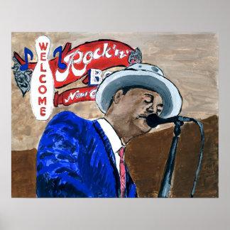 Blues Singer Poster