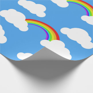 Blues skies and rainbows - gift wrap