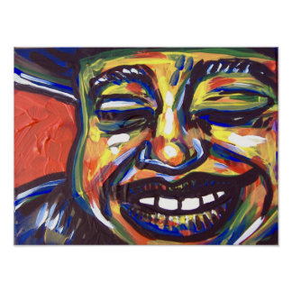 Blues Smile Poster