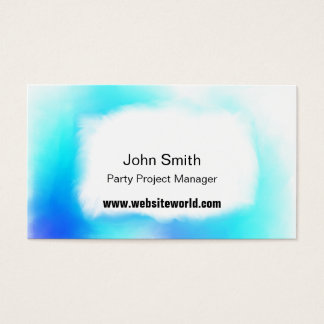Blues white and turquoise soft clouds business/c business card