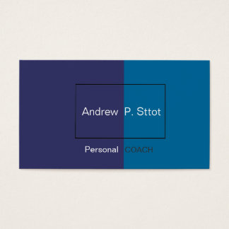 BlueShade Professional Geometric Visual Masculine Business Card