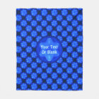 Bluestar Fractal Fleece Blanket