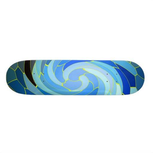 BlueSwirls Skate Deck