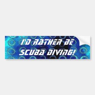 bluetexture, I'd Rather Be Scuba Diving! Bumper Sticker