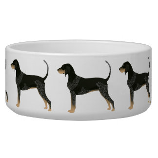 Bluetick Coonhound Basic Breed Customizable Design Dog Water Bowl