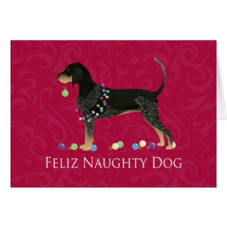 Bluetick Coonhound Christmas Card