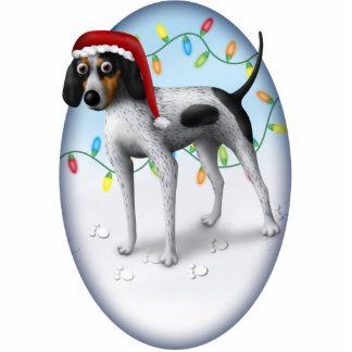 Bluetick Coonhound Christmas Ornament Photo Sculpture Ornament
