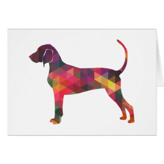 Bluetick Coonhound Dog Geometric Silhouette Card