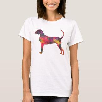 Bluetick Coonhound Dog Geometric Silhouette T-Shirt