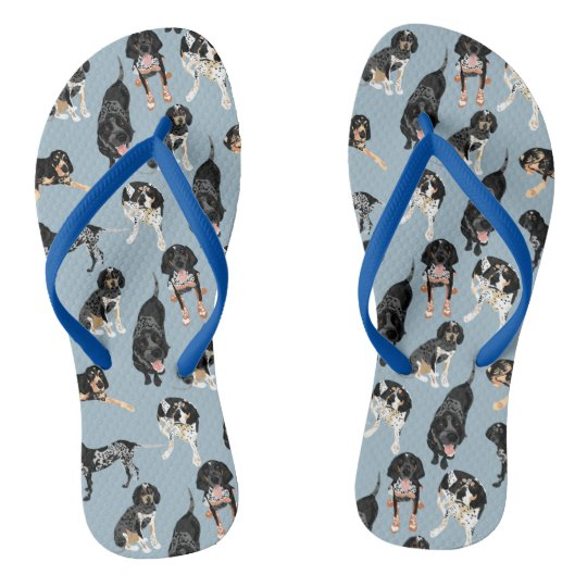 Bluetick Coonhound  Flip Flops