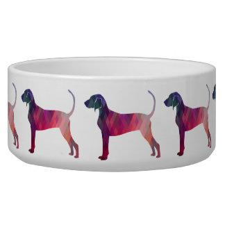 Bluetick Coonhound Geometric Pattern Silhouette