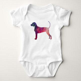 Bluetick Coonhound Geometric Pattern Silhouette Baby Bodysuit