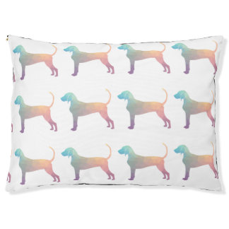 Bluetick Coonhound Geometric Silhouette in Pastels Pet Bed