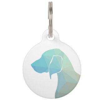 Bluetick Coonhound Geometric Silhouette in Pastels Pet ID Tag