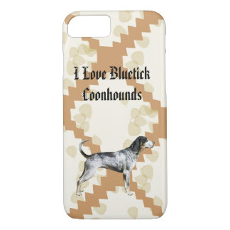 Bluetick Coonhound on Tan Leaves 7 iPhone 7 Case