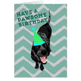 Bluetick Coonhound Pawsome Birthday Card