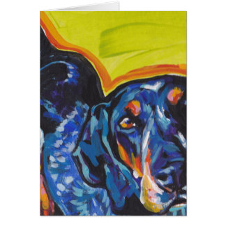 Bluetick Coonhound Pop Art Card