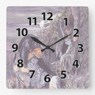 Bluetick Coonhound Puppy Dreamer Clock