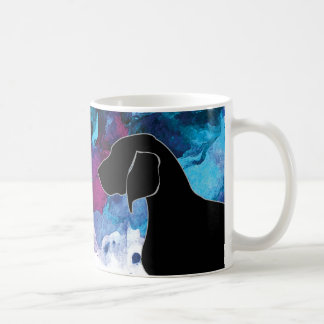 Bluetick Coonhound Watercolor Blue Coffee Mug