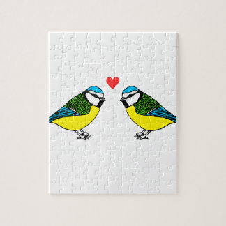 Bluetits In Love Jigsaw Puzzle