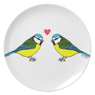 Bluetits In Love Party Plates