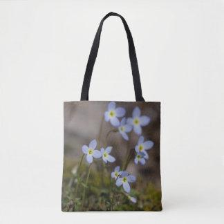 Bluets Little Purple Flowers Wildflower Tote Bag