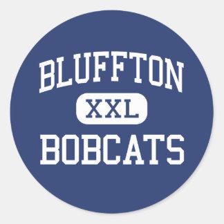 Bluffton - Bobcats - High - Bluffton Classic Round Sticker