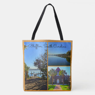 Bluffton South Carolina Lowcountry Collage Tote Bag