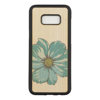 Bluish Abstract Flower Carved Samsung Galaxy S8+ Case
