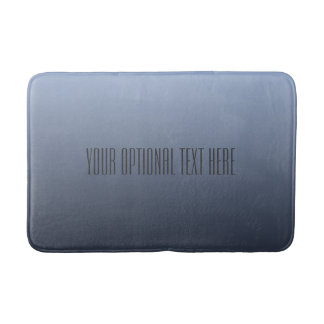 Bluish Gray Gradient custom text bath mats