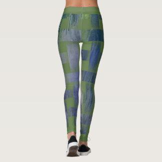 Bluish green one put-went to Weaving Design Leggings