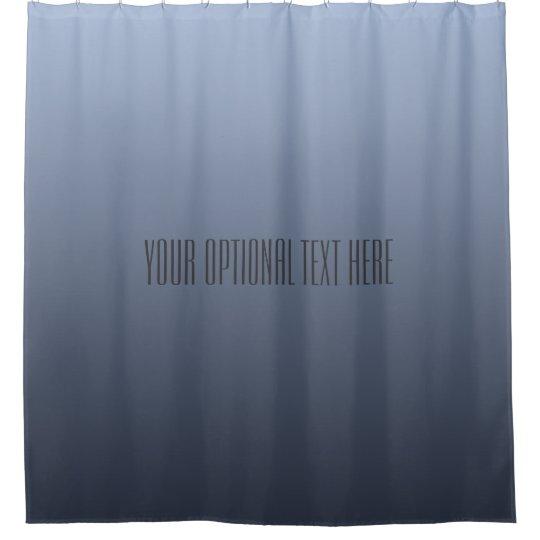 Bluish Grey Gradient custom text shower curtain