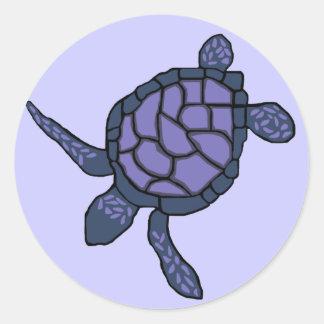 Bluish-purple Honu sea turtle stickers
