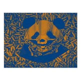 Bluish Yellow Gangsta Panda Postcard