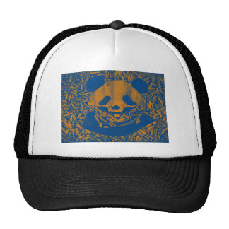 Bluish Yellow Gangsta Panda Trucker Hat