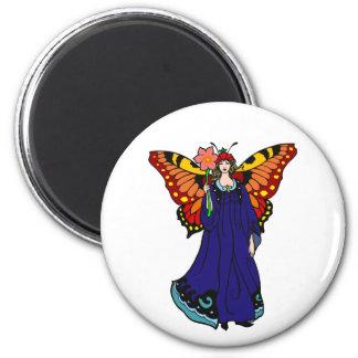 Blumenfee more flower fairy 2 inch round magnet