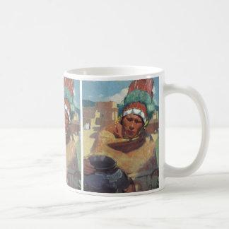Blumenschein, Taos Native American Indian Portrait Coffee Mug
