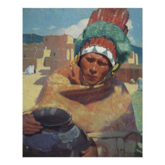 Blumenschein, Taos Native American Indian Portrait Poster
