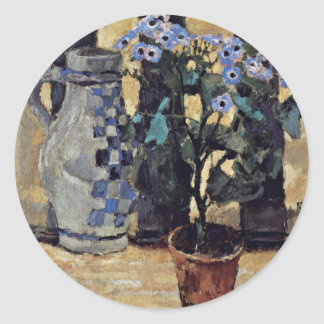 Blumenstock And Ceramic Jug By Moser Koloman (Best Classic Round Sticker