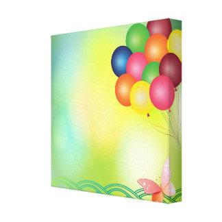 Blur balloons canvas print