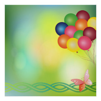 Blur balloons poster