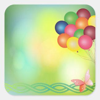 Blur balloons square sticker