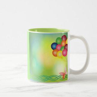 Blur balloons Two-Tone coffee mug