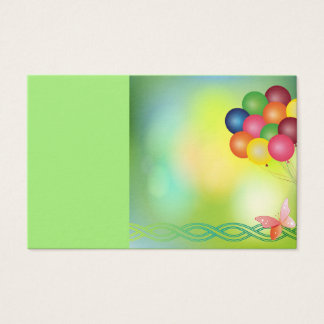Blur greeting card with balloons