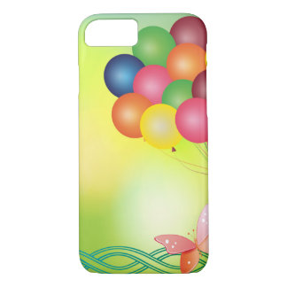 Blur greeting card with balloons Case-Mate iPhone case