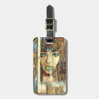 blur hair1 luggage tag